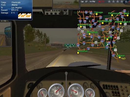 18轮大卡车穿越美国游戏截图(2)