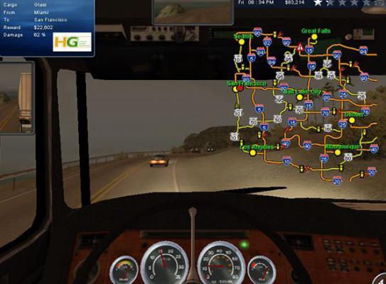 18轮大卡车穿越美国游戏截图(4)